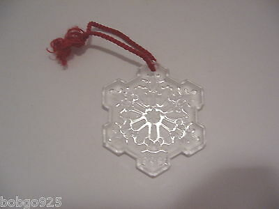Waterford Hanging Ornament Snowflake Crystal Frosted Glass Christmas 1995