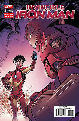 INVINCIBLE IRON MAN #1 DIVIDED WE STAND VARIANT NOW (MARVEL 2016 1st Print)