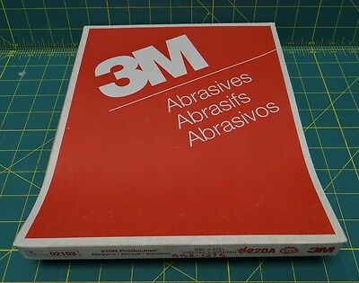 "3M 210N Production Paper 051144-02103, 9"" x 11"" 220A Grade 100 Sheets"