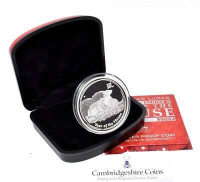 2008 Australia Year of  Mouse $1 One Dollar Silver Proof 1oz Coin Box Coa