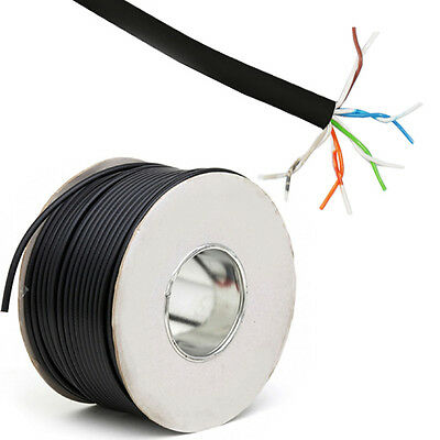 100m Black Outdoor Telephone Cable -5 pair 10 Core- BT Wire CW1128 Communication