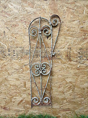 Antique Victorian Iron Gate Window Garden Fence Architectural Salvage Guard VV