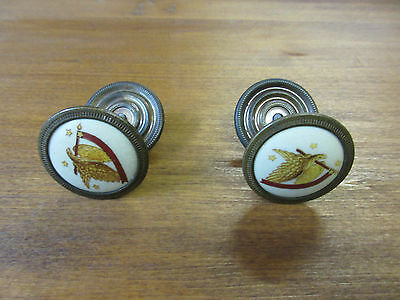 2 Hitchcock Decorated Porcelian Dresser Chest Drawer Pulls Handles Hardware K