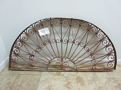 Antique Victorian Iron  Window Garden Fence Architectural Salvage Transom 415