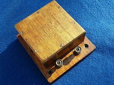 Antique Vintage Old Wooden Electric Door Railway Butler Alarm Buzzer Not Bell !!
