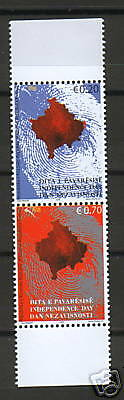 Kosovo-Mnh-Pair-New Issue-Independence Day-Map-2008.