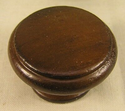10 Vintage Style Walnut Stained Wood Knobs Handles Cabinet Furniture Hardware '