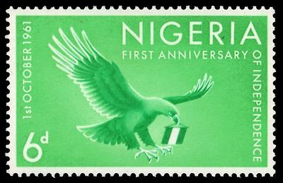 """NIGERIA 120 (SG108) - Independence """"Eagle Carrying Banner"""" (pa80496)"""