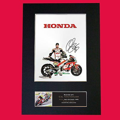 CAL CRUTCHLOW Signed Reproduction Autograph Mounted Photo Print A4 628