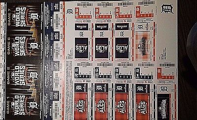Full Mint 2016 Detroit Tigers Playoff Strip *ticket To All Games* Free Ship!