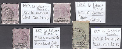 1887 British Bechuanaland Selection..Mint & Used