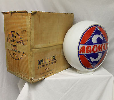 Antique Aromax Skelly Advertising Gas Globe with original Box