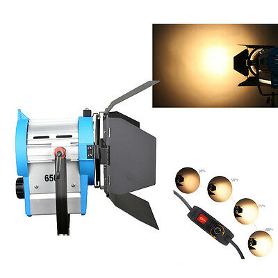 650W Film Fresnel Wolfram Spotlight Beleuchtung Studio Video Barndoor dimmbar