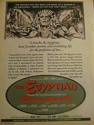 The Egyptian, Jean Simmons, Full Page Vintage Promotional Ad