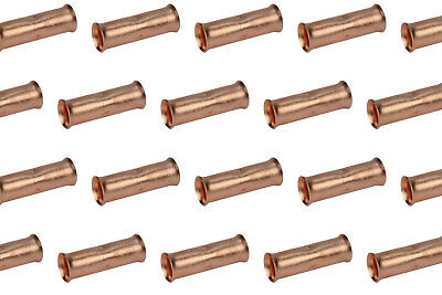 6 AWG TEMCo Butt Splice Connector Bare Copper Uninsulated Gauge 10 Pack