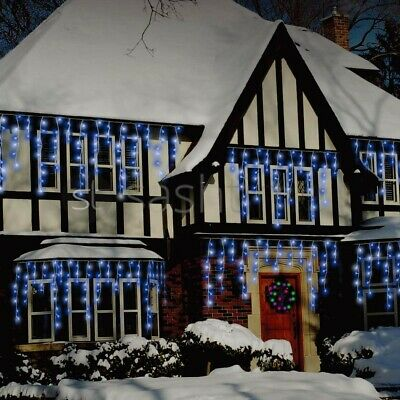 Christmas 480/720/960/1200 Icicle Snowing Led Xmas Chaser Lights Party Outdoor