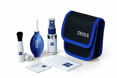 ZEISS Lens Cleaning Kit with lens brush , dust blower , cleaning cloths , fluid