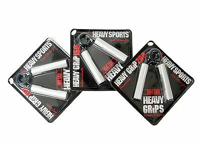 Heavy Grips Men's Hand Grippers (Pack of 3) Sliver/Black Size 150-250