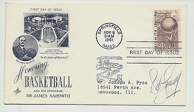 Bob Cousey Boston Celtics signed 1961 FDC First Day Cover 4c basketball stamp