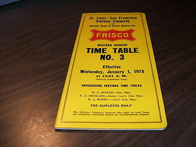 1975 Frisco Slsf Western Employee Timetable #3