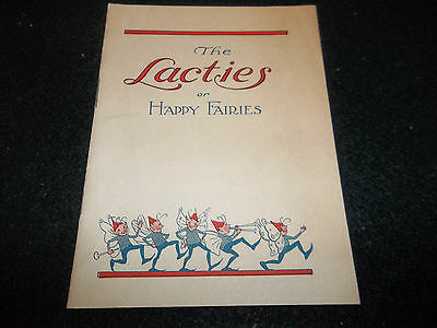 vintage 1922 National Dairy Council booklet The Lacties or Happy Fairies Kelly
