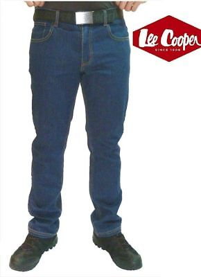 REDUCED Lee Cooper 218 Blue Stretch Denim Work Jeans Classic Fit 5 Pocket 30-42
