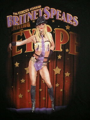 "Rare Britney Spears ""The Circus"" 2009 Concert T Shirt Size: Small FREE SHIP Vtg"
