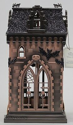 Halloween 2016 White Barn Bath & Body Works Metal Haunted House Luminary NWT