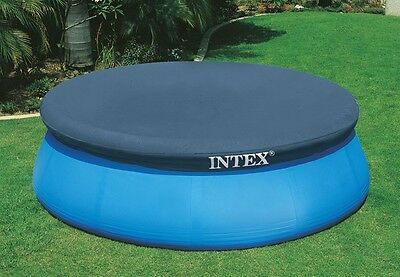 Genuine INTEX 10ft 305cm Pool Cover Easy Set Pool Incl Rope tie down 30cm drop