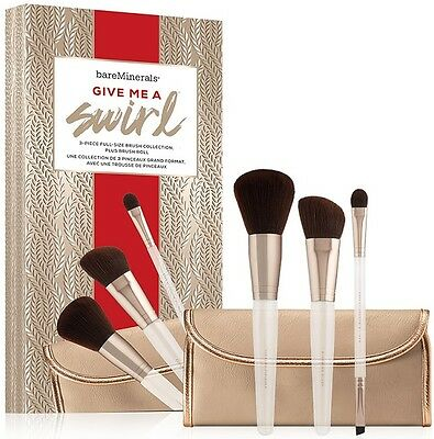 BARE ESCENTUALS bareMinerals * GIVE ME A SWIRL * 3pc Full Size Brush Collection