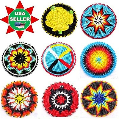 Handmade Beaded Native Style Inspired Craft Applique,patch