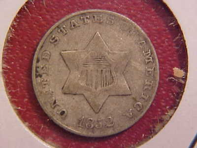 1852 Three Cent Silver - Xf - See Pics! - (N4500)