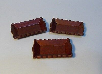 Dollhouse Miniature Wooden Mahogany Serving Tray   1:12  one inch scale  F4