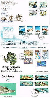 British Antarctic Territory - 10 Fine Condition First Day Covers (3 Scans)