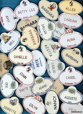 IS YOUR NAME ON MY LIST? PICK 1 DISNEY CAST NAME TAG BADGE from 2000+