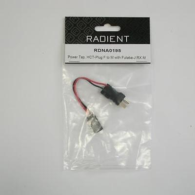 Radient RDNA0195 Power Tap, HCT-Plug Female to Male with Futaba-J Rx Male