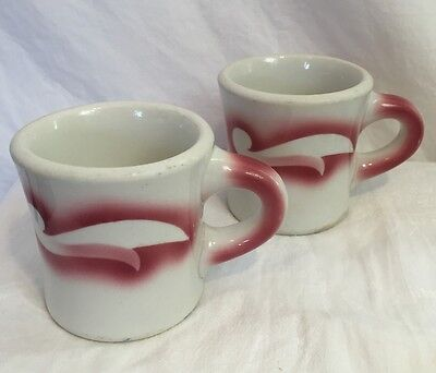 Lot of 2 Jackson China KALBERER Coffee Mugs Cups Airbrush Hotel Supply Co