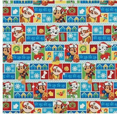 New Paw Patrol Birthday Christmas Holiday Gift Wrap Wrapping Paper Roll 70 Sq Ft