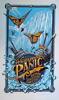 WIDESPREAD PANIC POSTER PRINT 1ST ED. Linocut Sign & # A J Masthay Lewistown, NY