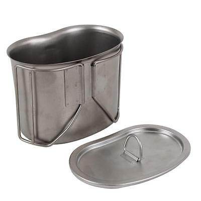 New G.I. Type Stainless Steel Canteen Cup with Lid, Military