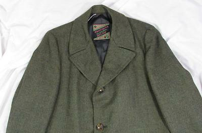 Vtg 50s 60s Mens Ballymena Wool Coat Fabric Made in Ireland Overcoat Hollywood