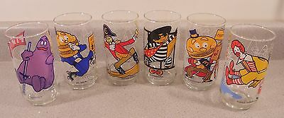 Vintage McDonalds Collectable Character Glasses - Set of 6 - 1977