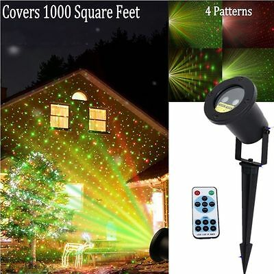 Outdoor R&G Projector Moving Laser Lamp For Landscape Garden Xmas Stage Light