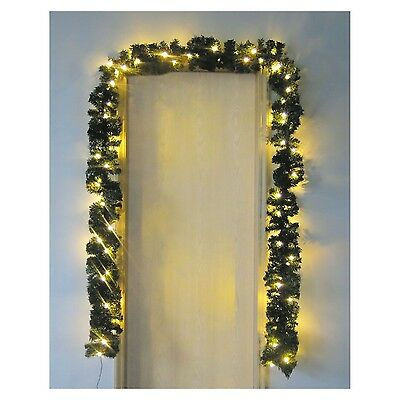 Xmas Christmas 5M Garland Light 80 White Led Lights Festive Party Decoration