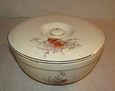 Vintage Universal Cambridge Poppies Oven Proof Covered Bowl