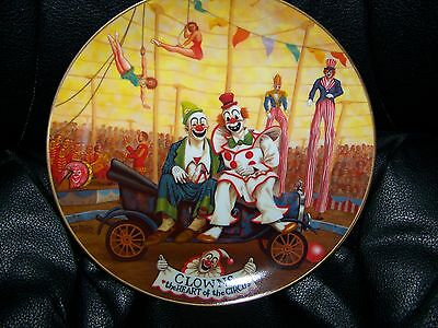 Clowns-The Heart Of The Circus Plate By Franklin Moody-1982