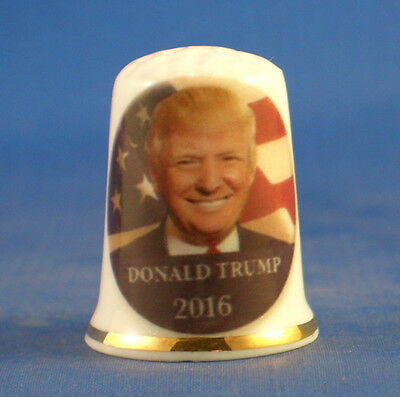 Birchcroft Porcelain China Thimble -  2016 Elections Donald Trump - Free Box