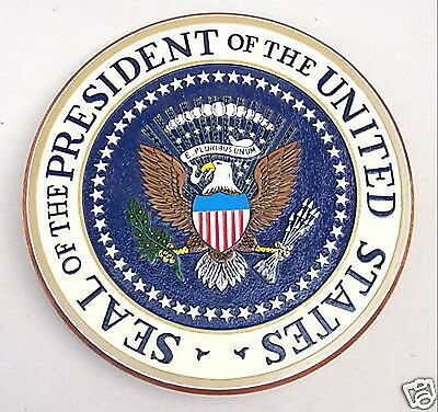 US President Presidential Seal Wood Plaque Podium Free Shipping