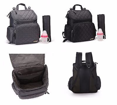 Multi-functional Smart Unisex Backpack Baby Nappy Changing Diaper Bag Set--008