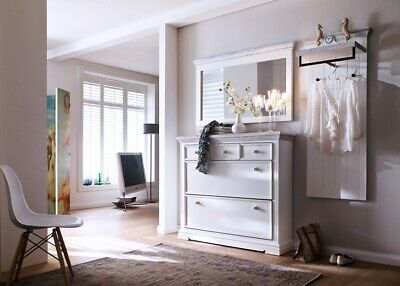 garderobenleiste wandpaneel wandgarderobe kiefer landhausstil wei eur 215 90 picclick de. Black Bedroom Furniture Sets. Home Design Ideas